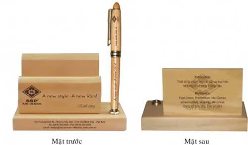 khay bút bằng gỗ