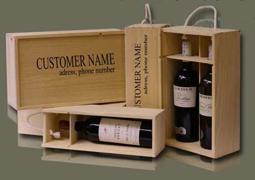 Hộp đựng rượu gỗ